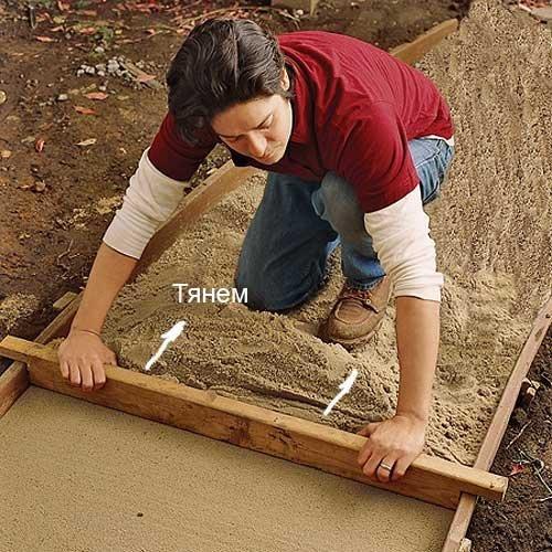 Как укладывать садовую дорожку своими руками 446